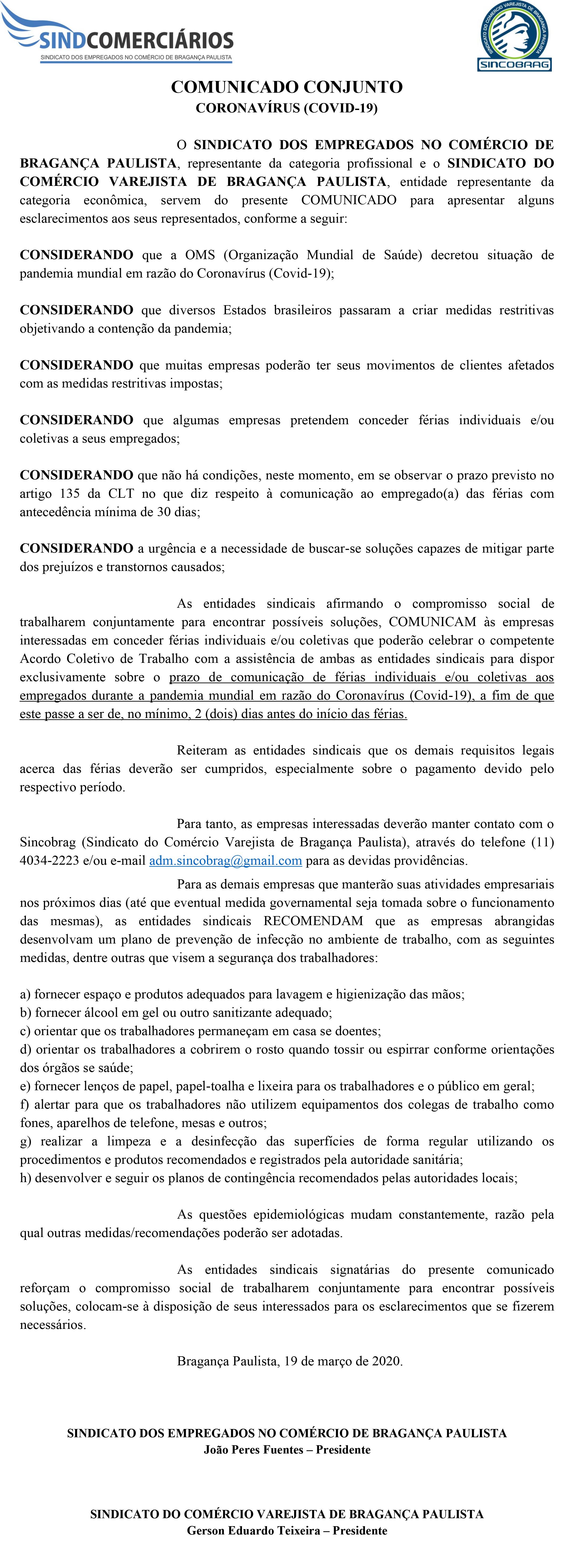 CONVENÇÃO COLETIVA DE TRABALHO